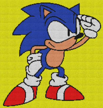 Sonic the Hedgehog - C2C Written Graphghan Pattern - 02 (200x210)