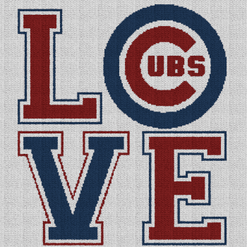 Chicago Cubs Love - Single Crochet Written Graphghan Pattern - 06 (219x219)