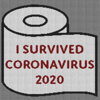 I Survived Coronavirus 2020 - Single Crochet Written Graphghan Pattern - 01 (200x200)