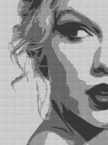 Taylor Swift - Single Crochet Written Graphghan Pattern - 02 (150x200)