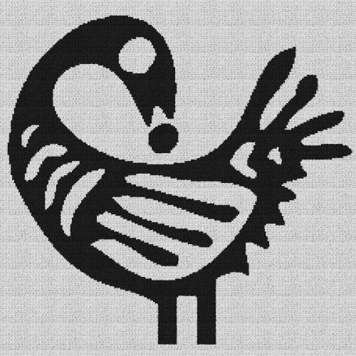 Sankofa Bird - Single Crochet Written Graphghan Pattern - 03 (230x230)