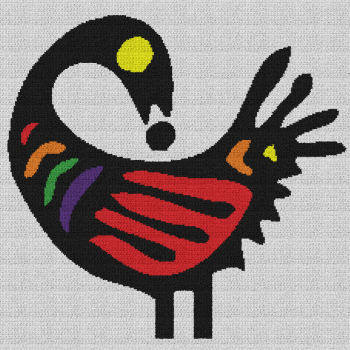 Sankofa Bird - Single Crochet Written Graphghan Pattern - 04 (230x230)