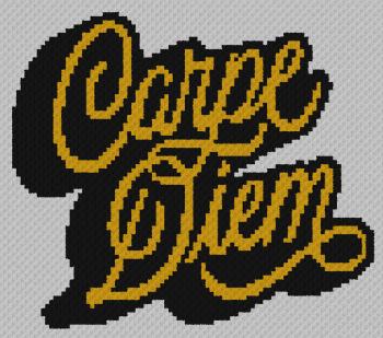 Carpe Diem - C2C Written Graphghan Pattern - 01 (92x81)