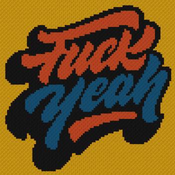 Fuck Yeah - C2C Written Graphghan Pattern - 01 (96x96)