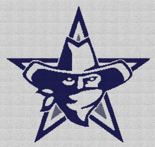 Dallas Cowboys - Single Crochet Written Graphghan Pattern - 05 (240x227)