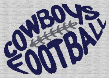 Cowboys Football - Single Crochet Written Graphghan Pattern - 06 (249x176)
