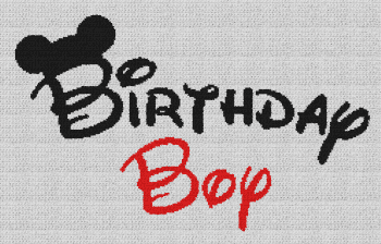 Birthday Boy (Mickey Mouse) - Single Crochet Written Graphghan Pattern - 04 (240x150)