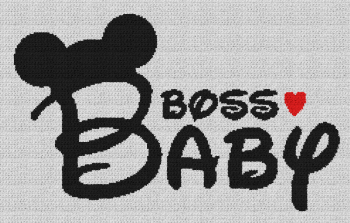 Boss Baby (Mickey Mouse) - Single Crochet Written Graphghan Pattern - 08 (240x149)