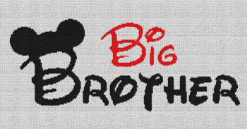Big Brother (Mickey Mouse) - Single Crochet Written Graphghan Pattern - 12 (240x131)