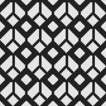 Geometric Pattern - C2C Written Graphghan Pattern - 01 (84x84)
