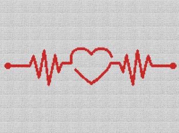 Heartbeat - Single Crochet Written Graphghan Pattern - 12 (202x150)