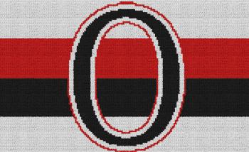 Ottawa Senators - Single Crochet Written Graphghan Pattern - 01 (164x100)