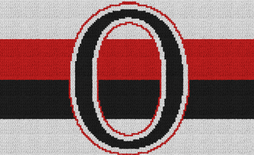 Ottawa Senators - Single Crochet Written Graphghan Pattern - 01 (164x100)