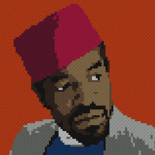 Andre 3000 (Outkast) - C2C Written Graphghan Pattern - 01 (80x80)