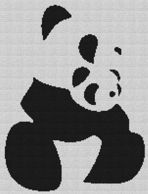 Panda & Cub - Single Crochet Written Graphghan Pattern - 05 (153x200)
