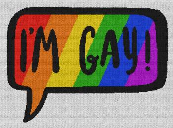 I'm Gay - Single Crochet Written Graphghan Pattern - 03 (239x174)