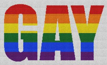 Gay (Pride) - Single Crochet Written Graphghan Pattern - 04 (250x147)