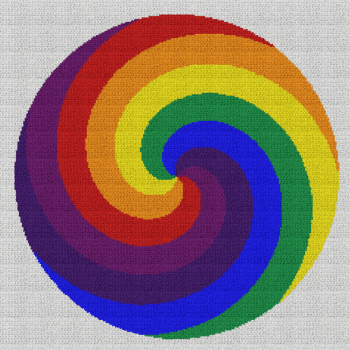 Rainbow Swirl - Single Crochet Written Graphghan Pattern - 03 (230x230)