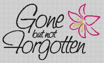Gone but not Forgotten - Single Crochet Written Graphghan Pattern - 01 (268x160)