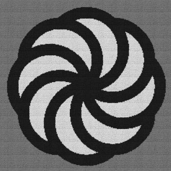Armenian Eternity Symbol - Single Crochet Written Graphghan Pattern - 01 (230x230)