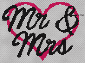 Mr & Mrs - C2C Written Graphghan Pattern - 13 (99x74)