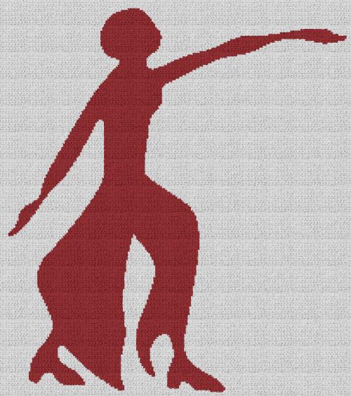 Delta Sigma Theta Fortitude - Single Crochet Written Graphghan Pattern - 02 (208x234)