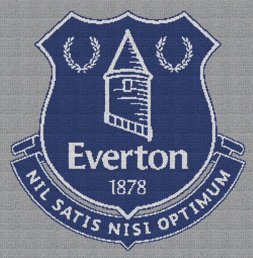 Everton Football Club - Single Crochet Written Graphghan Pattern - 01 (243x248)