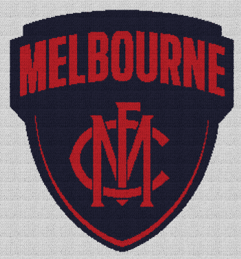 Melbourne Football Club - Single Crochet Written Graphghan Pattern - 01 (233x251)