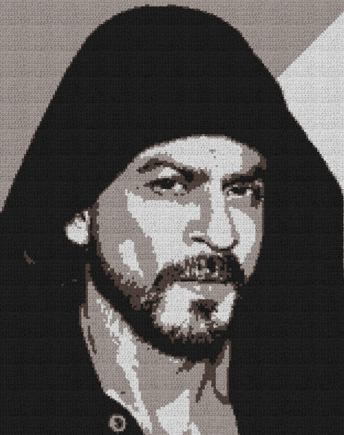 Shah Rukh Khan - Single Crochet Written Graphghan Pattern - 01 (158x200)