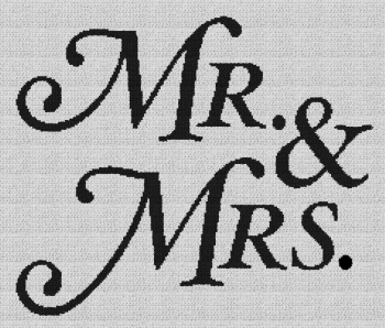Mr. & Mrs. - Single Crochet Written Graphghan Pattern - 15 (230x194)