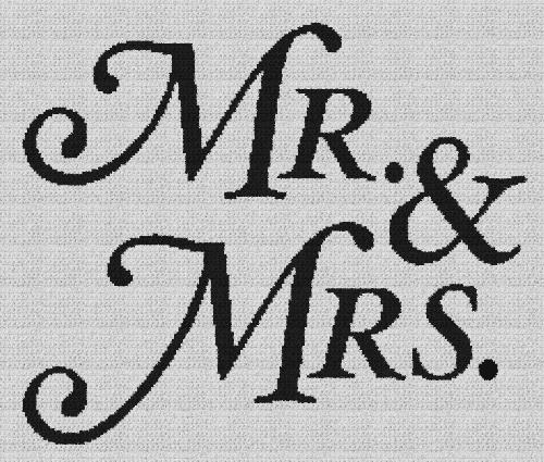Mr. & Mrs. - Single Crochet Written Graphghan Pattern - 15 (230x194)