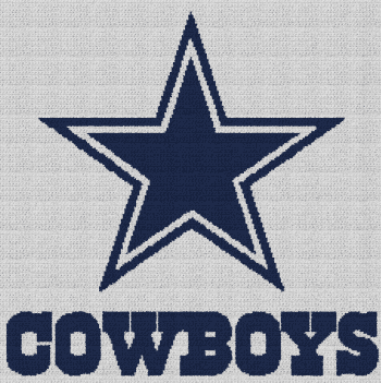 Dallas Cowboys - Single Crochet Written Graphghan Pattern - 02 (229x230)