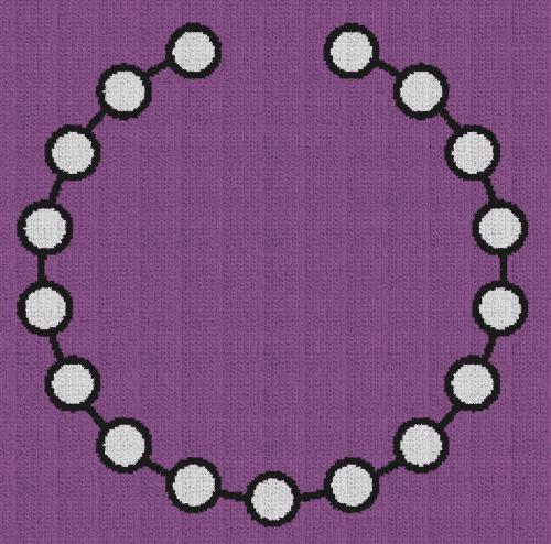 Pearl Necklace - Single Crochet Written Graphghan Pattern - 02 (230x227)