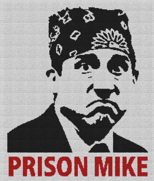 Prison Mike (The Office) - Single Crochet Written Graphghan Pattern - 01 (220x260)