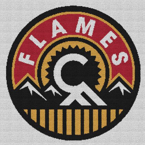 Calgary Flames - Single Crochet Written Graphghan Pattern - 02 (250x250)
