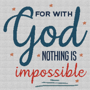 For With God, Nothing Is Impossible - Single Crochet Written Graphghan Pattern - 03 (250x250)