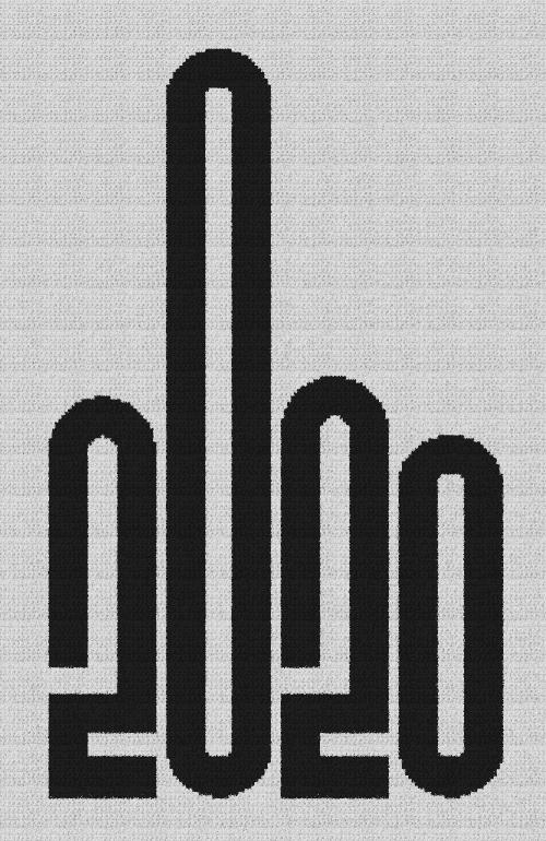 F#%k 2020 (Middle Finger) - Single Crochet Written Graphghan Pattern - 08 (159x250)