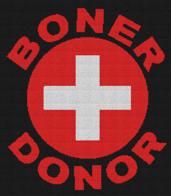Boner Donor - Single Crochet Written Graphghan Pattern - 09 (210x240)