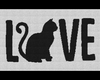 Cat Love - Single Crochet Written Graphghan Pattern - 06 (250x150)
