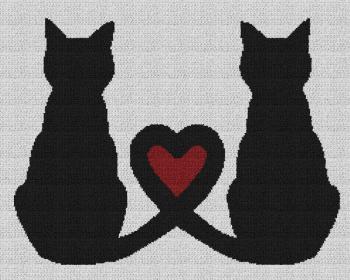 Cat Love - Single Crochet Written Graphghan Pattern - 07 (240x190)