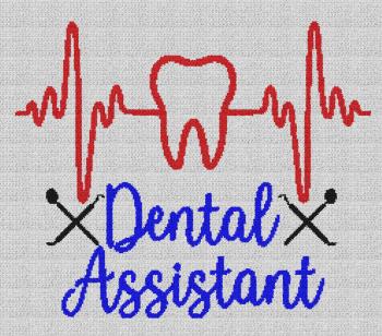 Dental Assistant - Single Crochet Written Graphghan Pattern - 03 (250x220)