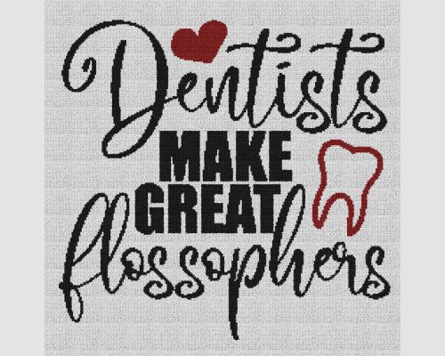 Dentists Make Great Flossophers - Single Crochet Written Graphghan Pattern - 04 (240x240)