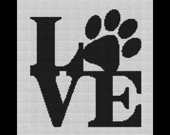 Dog Love - Single Crochet Written Graphghan Pattern - 06 (135x134)