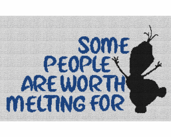Some People Are Worth Melting For (Frozen) - Single Crochet Written Graphghan Pattern - 20 (250x150)