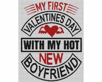 My First Valentine's Day With My Hot New Boyfriend - Single Crochet Written Graphghan Pattern - 04 (200x250)