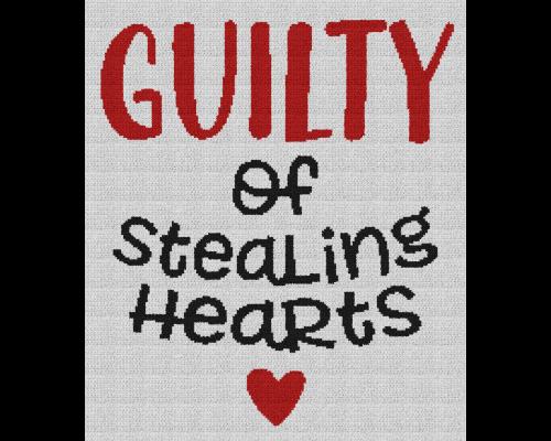 Guilty of Stealing Hearts - Single Crochet Written Graphghan Pattern - 05 (190x220)