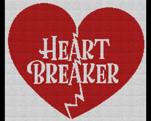 Heart Breaker - Single Crochet Written Graphghan Pattern - 07 (230x197)