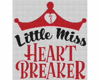Little Miss Heart Breaker - Single Crochet Written Graphghan Pattern - 09 (215x230)