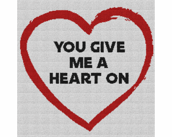 You Give Me a Heart On - Single Crochet Written Graphghan Pattern - 13 (230x230)