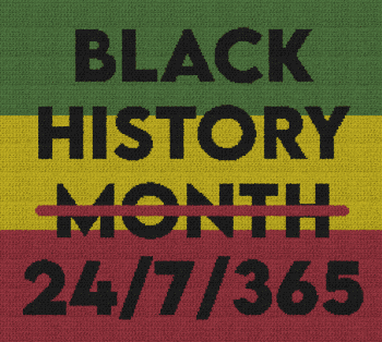 Black History 24/7/365 - Single Crochet Written Graphghan Pattern - 01 (250 x 224)